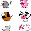 Cartoon animals — Stockvectorbeeld