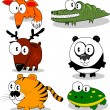 Cartoon animals — Imagen vectorial
