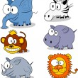 Royalty-Free Stock Vector Image: Cartoon animals