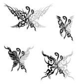 Flaming butterflies — Stock Vector