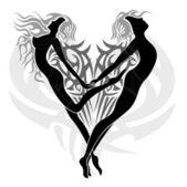 Loving angels — Stock Vector