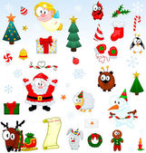 Christmas symbols collection — Stock Vector