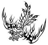 Tattoo with phoenix — Stock Vector