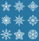 Decorative snowflakes set — Stock Vector