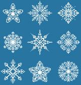 Decorative snowflakes set — Stock Vector