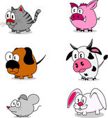 Cartoon animals — Stock Vector