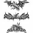 Royalty-Free Stock Vektorfiler: Tattoos dragons