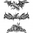 tatouages dragons — Vecteur #3147040