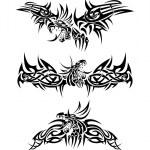 tatuagens de dragões — Vetorial Stock