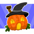Halloween house-pumpkin — Stock Vector