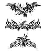Tattoos dragons — Stock Vector