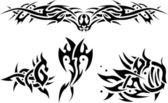 Abstract tattoos sea animals — Stock Vector