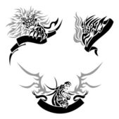 Tattoo with templates — Stock Vector