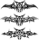 Abstract tattoos wasps — Stock Vector