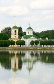 Kuskovo estate, Moscow: church and bell tower — Stock Photo