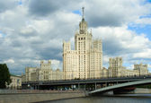 Stalinist high-rise building — Stock Photo