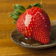 Strawberry with Honey - Stock Photo