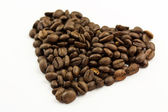 Coffee Bean Heart — Stock Photo
