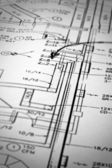 A macro shot of schematics — Stock Photo