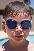 Boy with swimming goggles — Stock Photo