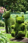 Unicorn and Bear Topiary Garden — Stock Photo