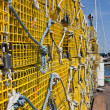 Stock Photo: Yellow Lobster Traps