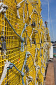Yellow Lobster Traps — Stock Photo