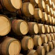 Stack of oak wine barrels — Stock Photo #3519332