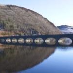Bridge over the dams at Elan Valley — Stock Photo #3088219