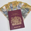Royalty-Free Stock Photo: Austalian 50 dollar notes and a passport