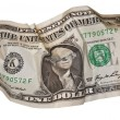 Stock Photo: Dollar bill all screwed up