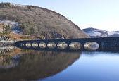 Bridge over the dams at Elan Valley — Stock Photo