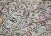 American dollars scattered — Stock Photo