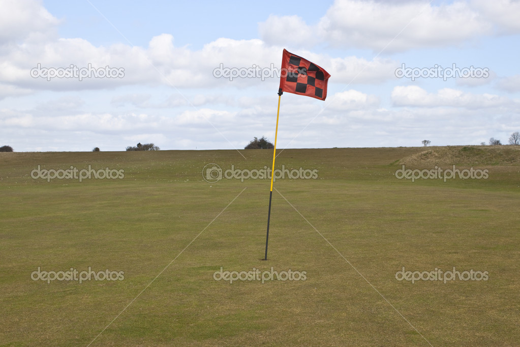 The last hole on the golf course — Stock Photo #3088779
