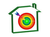 Energy ratings house target — Stock Photo