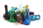 Colourful old style bottles — Stock Photo