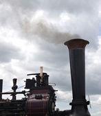 Steam Train with Smoke — Stock Photo