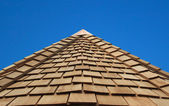 Wooden Cladded Roof — Stock Photo