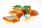 Bread, garlic — Stock Photo