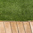Stock Photo: Grass and Wood