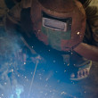 Man on welding work — Stock Photo