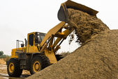 Working wheel loader — Stock Photo