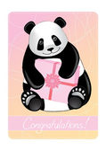 Greeting card of a panda. — Stock Vector