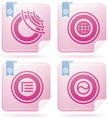 Miscellaneous Flamingo Icons — Vettoriale Stock
