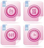 Diverse flamingo pictogrammen — Stockvector