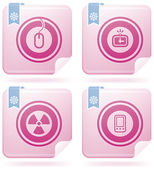 Flamingo Square 2D Icons Set: Abstract — 图库矢量图片