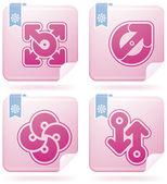 Miscellaneous Flamingo Icons — Stock Vector