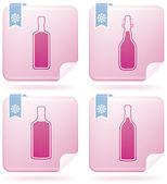 Alcohol bottles — Stock Vector
