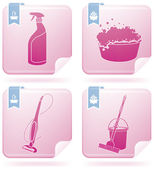 Cleaning Appliances — Stock Vector