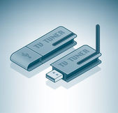 External TV Tuner — Stock Vector
